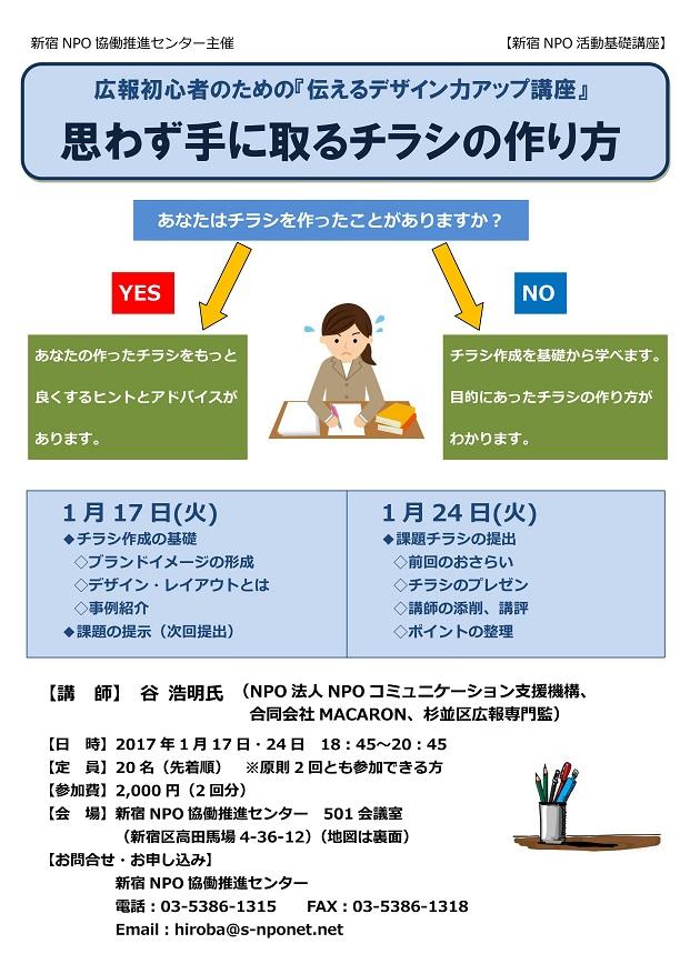 新宿NPOネットワーク協議会 広報初心者のための『伝えるデザイン